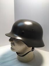 WWII German Army Heer M35 Steel Helmet with liner and chinstrap