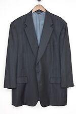 Southwick Wool Suit 48L 39x31 Dark Gray Chalkstripe 2 Button Jacket Pants Tall