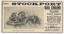 JEH Andrew & Co Ltd, Reddish; Stockport Gas Engine - Old Engineering Advert 1904
