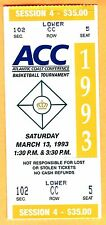 1993 NCAA MARCH MADNESS BASKETBALL FULL TICKET-3/13/93 @ CHARLOTTE, NC