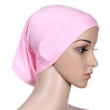 Women Sexy Under Scarf Tube Bonnet Cap Bone Islamic Head Cover Hijab Pink Hot