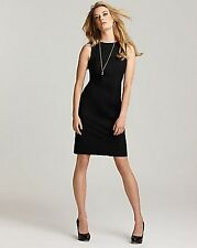 "THEORY NWT $325 SALE!!!! BETTY ""Tailor"" AUDREY CLASSIC Wool Lycra Black Sheath 4"