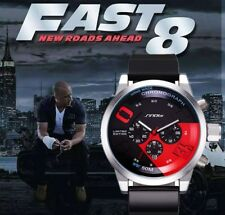 Montre Homme TOP MARQUE Fast And Furious 8 Date Chronograph Etanche PROMO +BOITE