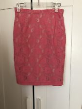 Ladies H&M Conscious Lace Pink Skirt Size 8
