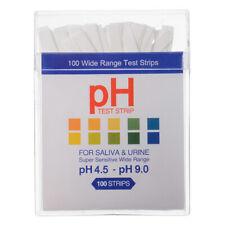 100x Ph Indicator Test Strips 45 9 Paper Litmus Tester Laboratory Urine Saliva