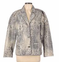 Chico's Womens Leopard Lightweight Blazer Button Front Blazer Jacket Size 2
