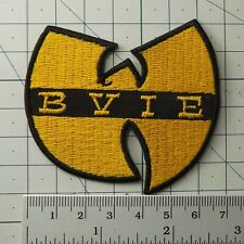 MUSIC 4795 YELLOW LOGO EMBROIDERED PATCH WU-TANG CLAN BRAND NEW