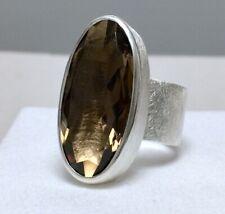 Ring Solitär Silber 925 + Rauchquarz 15.9ct. Handarbeit eigene Silberschmiede