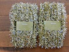 Vtg Style Christmas Tinsel Garland 2 Packs Unused Sandra Lee Kmart Silver Gold
