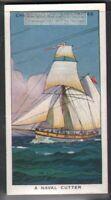 Single Mast Naval Cutter Sailing Ship  c80 Y/O Ad Trade Card