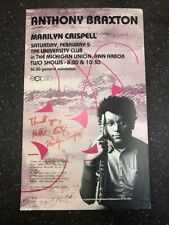 Anthony Braxton And Marilyn Crispell Concert Poster Signed By Both Performers