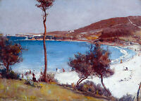 Tom Roberts, Holiday Sketch at Coogee 1888 Fade Resistant HD Art Print or Canvas