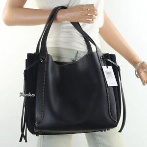 NWT Coach Harmony Mixed Leather Shoulder Bag Hand Bag Hobo 53352 Black New RARE