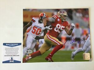 George Kittle Signed Autographed 8x10 Photo SF 49ers Beckett BAS COA g