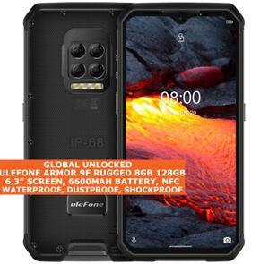 "ULEFONE ARMOR 9E RUGGED 8gb 128gb Waterproof 6.3"" Face Id Dual Sim Android 10 4g"