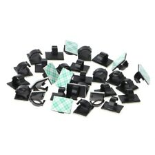 30Pcs Car Wire Clip Black Cable Tie Rectangle Holder Mount Clamp Self-adhesive