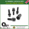 Black Locking Wheel Bolts 4+ Key M12X1.5 Nuts For BMW 5 Series E60/E61 (2003-10)