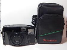 VINTAGE Fujifilm Discovery 290 Zoom Film Camera 35mm 38-90mm con Custodia Portatile