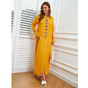Fashion Women Long Dress Muslim Abaya Dubai Kaftan Maxi Party Gown Jilbab Caftan