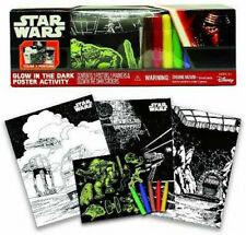 Star Wars Glow In The Dark Color Activity Poster Set: 3 Posters Stickers Markers
