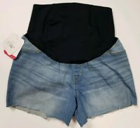Isabel Maternity Womens Shorts Sizes 2 to 18 Denim Factory Cut Off Midi Short