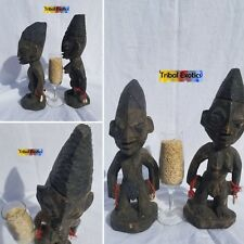 HALLOWED Yoruba Ibeji Twin Sculpture Statue Figure Mask Tribal African Art