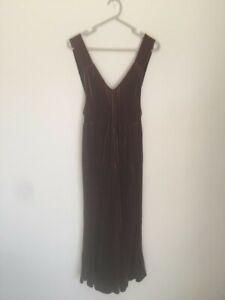 Indigo brown velvet slip dress, size 8