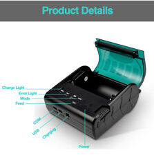 Mini 80mm Bluetooth Thermal Receipt Printer Bill POS for Android IOS Smartphone