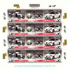 2010 Minifoglio Intero Made In Italy 100 Anni Alfa Romeo MNH Integro Italia