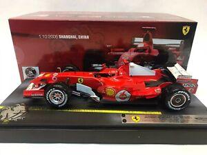 Hot Wheels Ferrari 248 F1 Schumacher Shanghai 2006 rain tyres 1/18 J2995