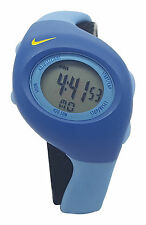 New Nike Triax Junior WR0017 Blue Light Blue Digital Sports Chronograph Watch