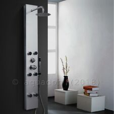 Shower Tower Panel Stainless Head Waterfall Shower Rain 6 Massage Jets