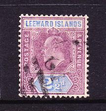 LEEWARD ISLANDS 1905-08  2 1/2d   KEVII    FU  SG 32