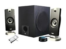 Cyber Acoustics CA-3090 9 Watts total RMS 2.1 3 Piece Flat Panel Design Subwoofe