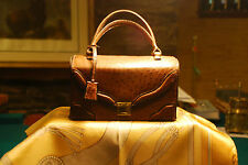 Vintage Genuine Ostrich ladies handbag made by Lopez of Buenos Aires