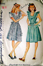 Vintage Simplicity Pinafore Blouse Sew Fabric Material Sewing Sz 14 32B #4946
