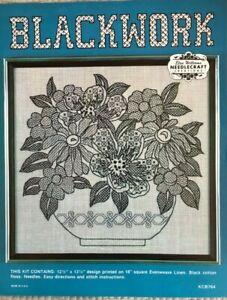 Blackwork Elsa Williams Needlecraft Creations Embroidery Kit #KCB764