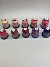 10x 5000m High Quality Italian Poly Machine embroidery thread Pink And Purple
