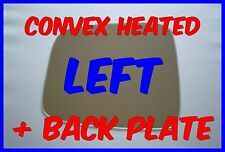 VAUXHALL FRONTERA 1998-2004 LEFT DOOR MIRROR GLASS CONVEX  BACK PLATE  HEATED