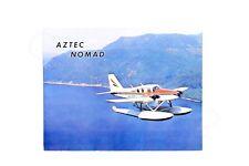 PIPER Vintage AZTEC Nomad Seaplane Brochure EDO Floats Melridge Rare USA Gift