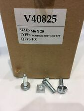 roofing bolts and nuts m6x20mm one box of 100