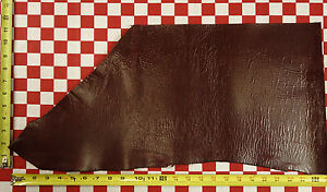 """AUTHENTIC HORWEEN LOLIPOP RED CAVALIER LEATHER CUT 5oz 24""""x12"""" NAT. QLTY"""