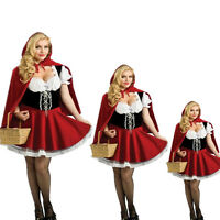 Sexy Women Little Red Riding Hood Halloween Costume Fancy Dress Skirt Plus S-4XL