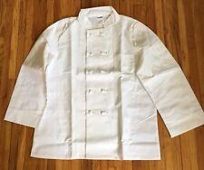 New Cintas White Chef Coat Jacket Adult Size 44 Long Sleeve 2 Pockets