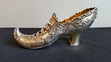 Antique Lady's Shoe / Slipper - Elf Toe 800 /1000 Hanau German Sterling Silver