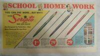 Scripto Pens & Pencils Ad: School Home Work Scripto ! 1950's Size: 7 x 15 inches