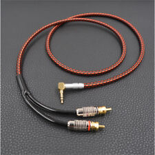 6FT Monster Audio Cable Stereo 3.5mm to 2 RCA Right angle for MP3 DVD TV PC