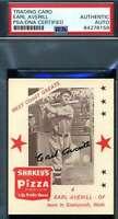 Earl Averill PSA DNA Coa Autograph 1975 Shakeys Pizza Hand Signed