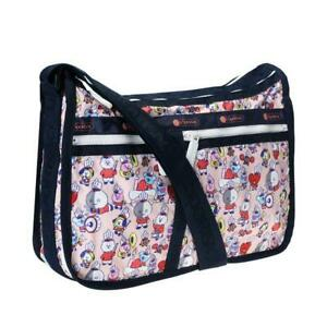 LeSportsac BTS Collection Deluxe Everyday Bag Crossbody in BT21 Multi NWT