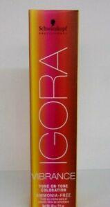 Schwarzkopf IGORA VIBRANCE Tone On Tone Ammonia Free Hair Color ~ 2.1 fl. oz.!!